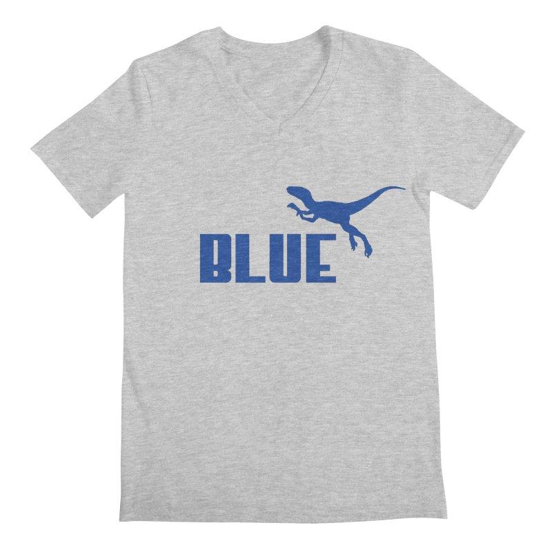 Blue Men's V-Neck by Daletheskater