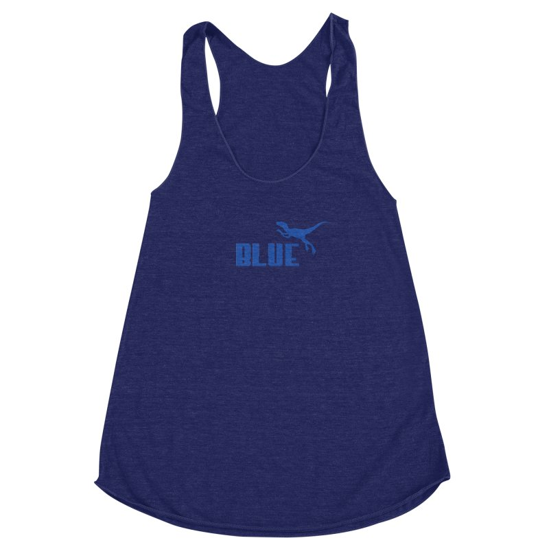 Blue Women's Racerback Triblend Tank by Daletheskater