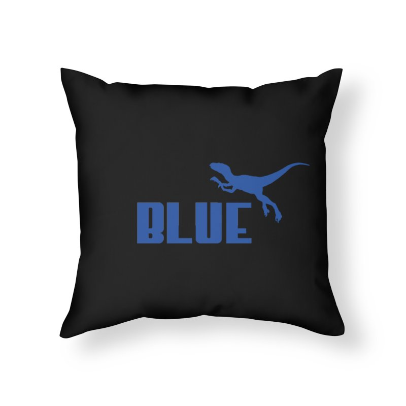 Blue Home Throw Pillow by Daletheskater