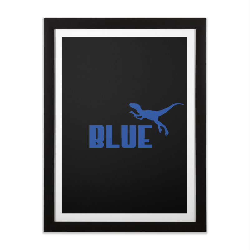 Blue Home Framed Fine Art Print by Daletheskater