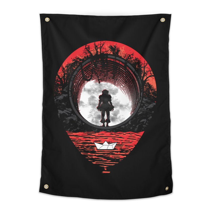 Fear The Clown Home Tapestry by Daletheskater
