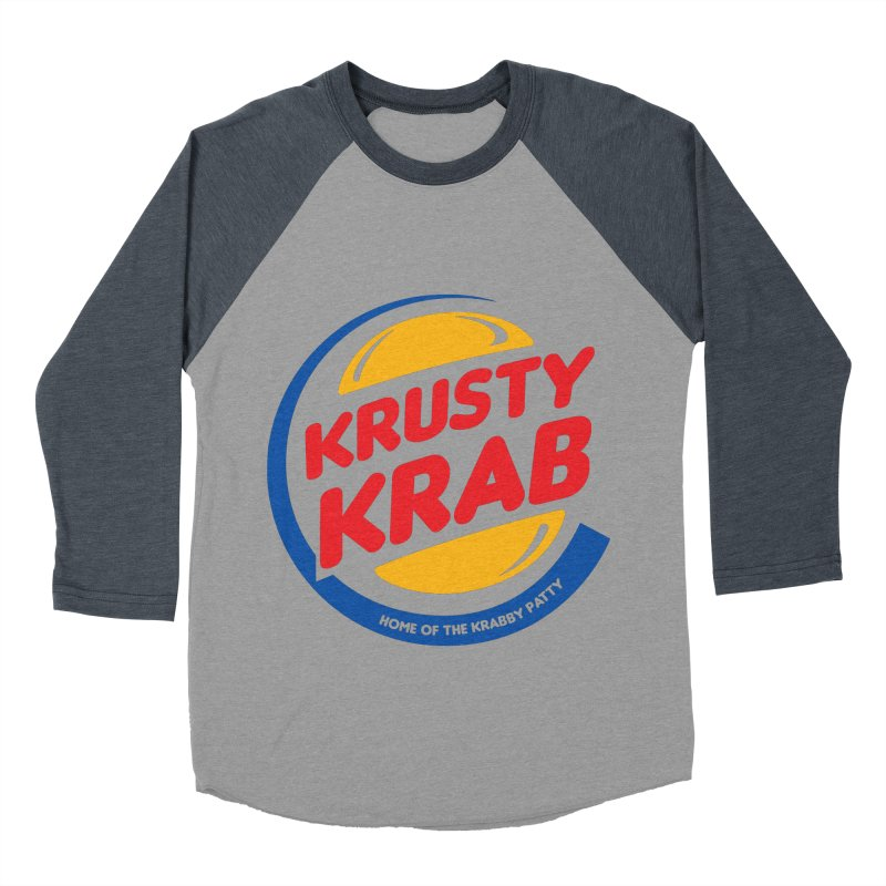 Krusty Krab Men's Baseball Triblend T-Shirt by Daletheskater