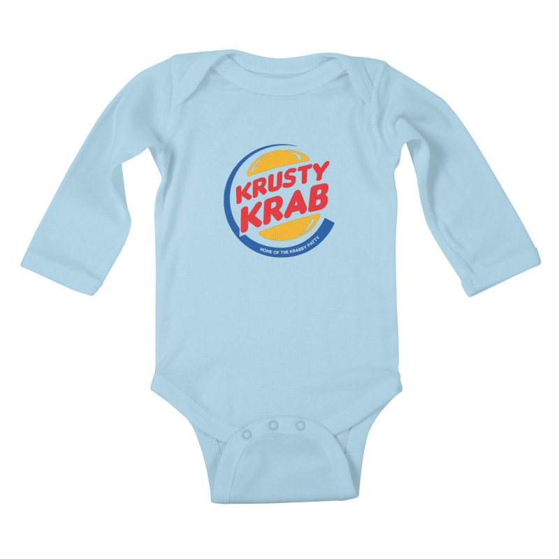 Krusty Krab Kids Baby Longsleeve Bodysuit by Daletheskater