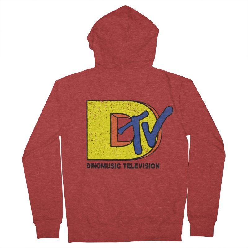 Dinomusic Television Men's Zip-Up Hoody by Daletheskater