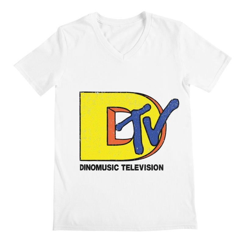Dinomusic Television Men's V-Neck by Daletheskater