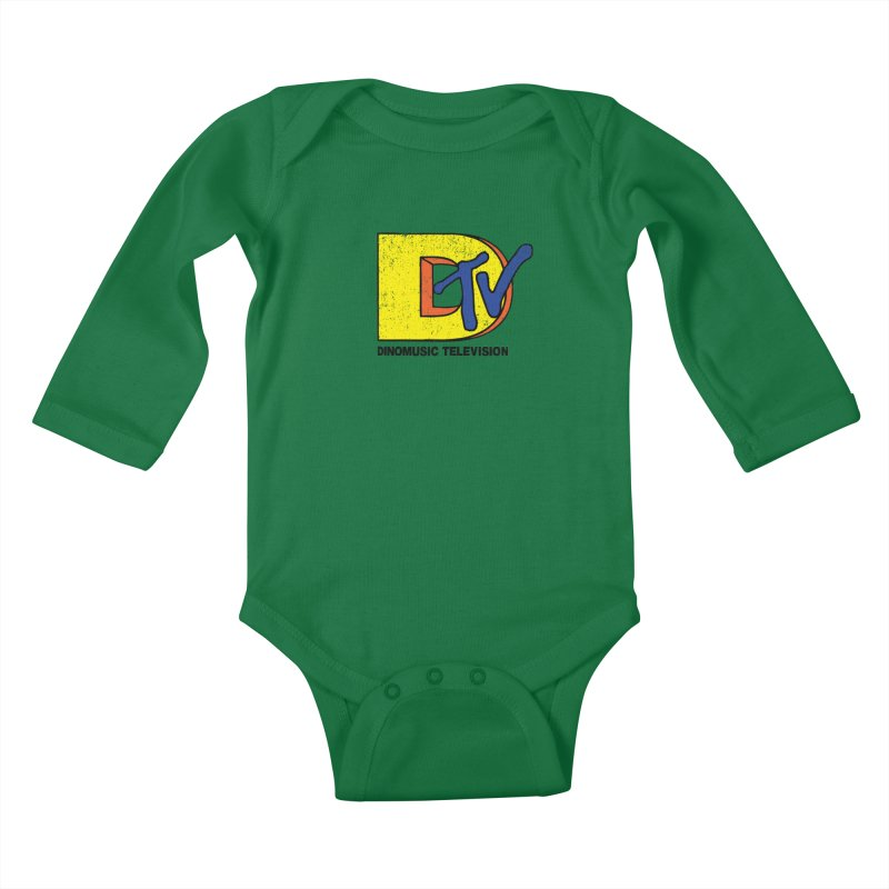 Dinomusic Television Kids Baby Longsleeve Bodysuit by Daletheskater