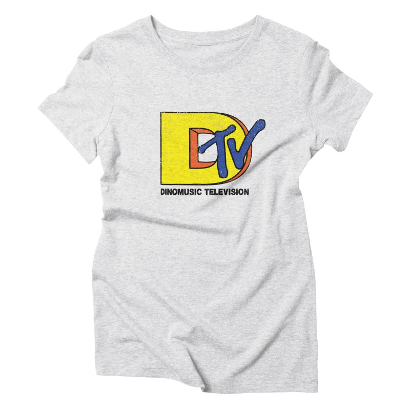 Dinomusic Television Women's Triblend T-Shirt by Daletheskater