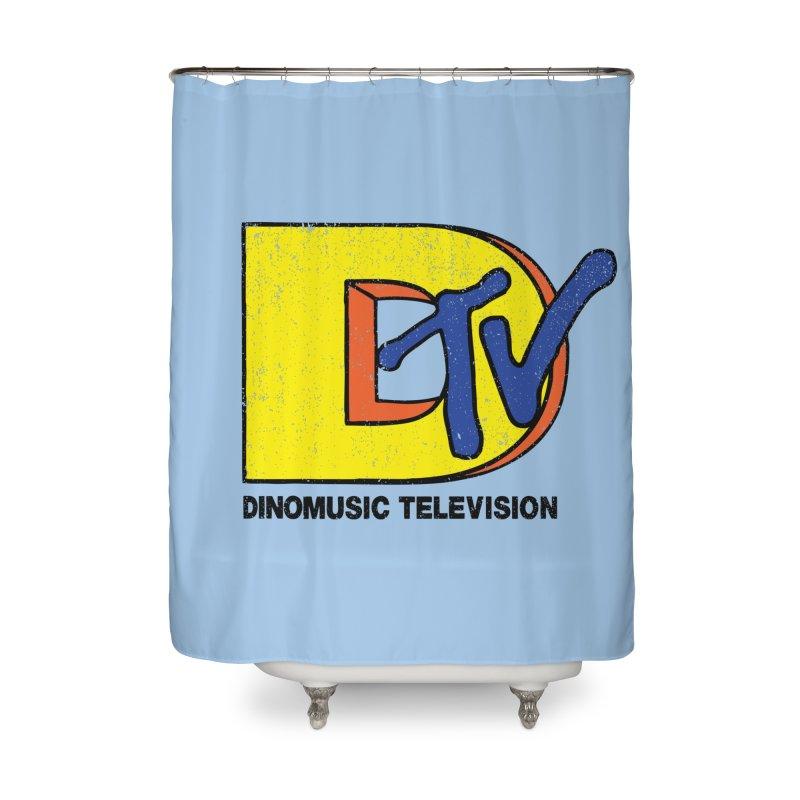 Dinomusic Television Home Shower Curtain by Daletheskater