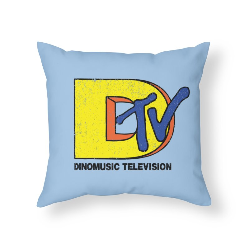 Dinomusic Television Home Throw Pillow by Daletheskater
