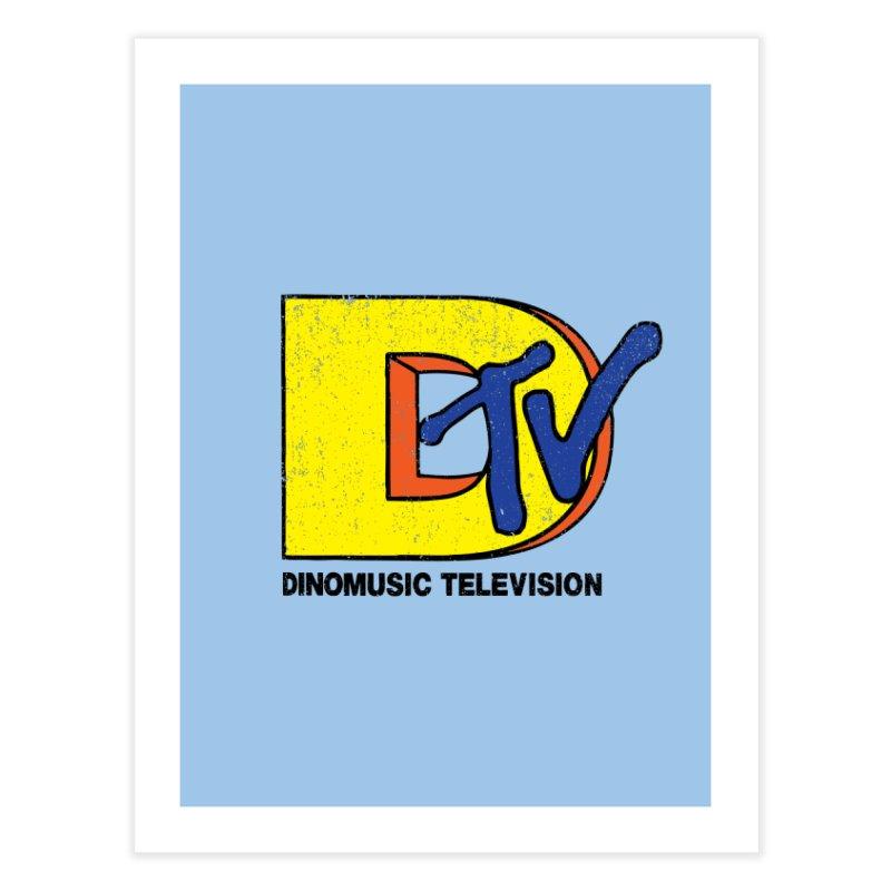 Dinomusic Television Home Fine Art Print by Daletheskater