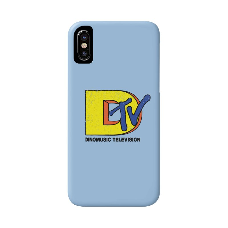 Dinomusic Television Accessories Phone Case by Daletheskater