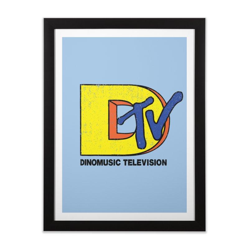 Dinomusic Television Home Framed Fine Art Print by Daletheskater