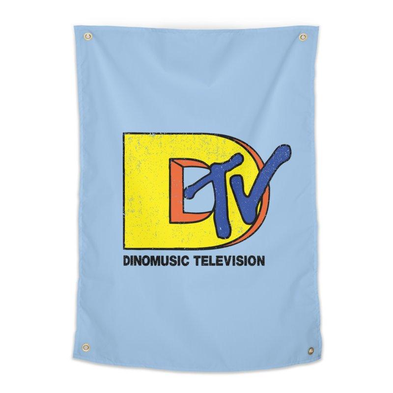 Dinomusic Television Home Tapestry by Daletheskater
