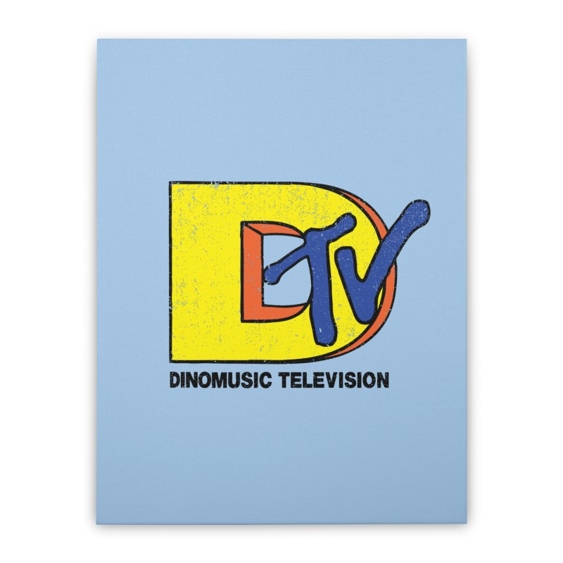 Dinomusic Television Home Stretched Canvas by Daletheskater