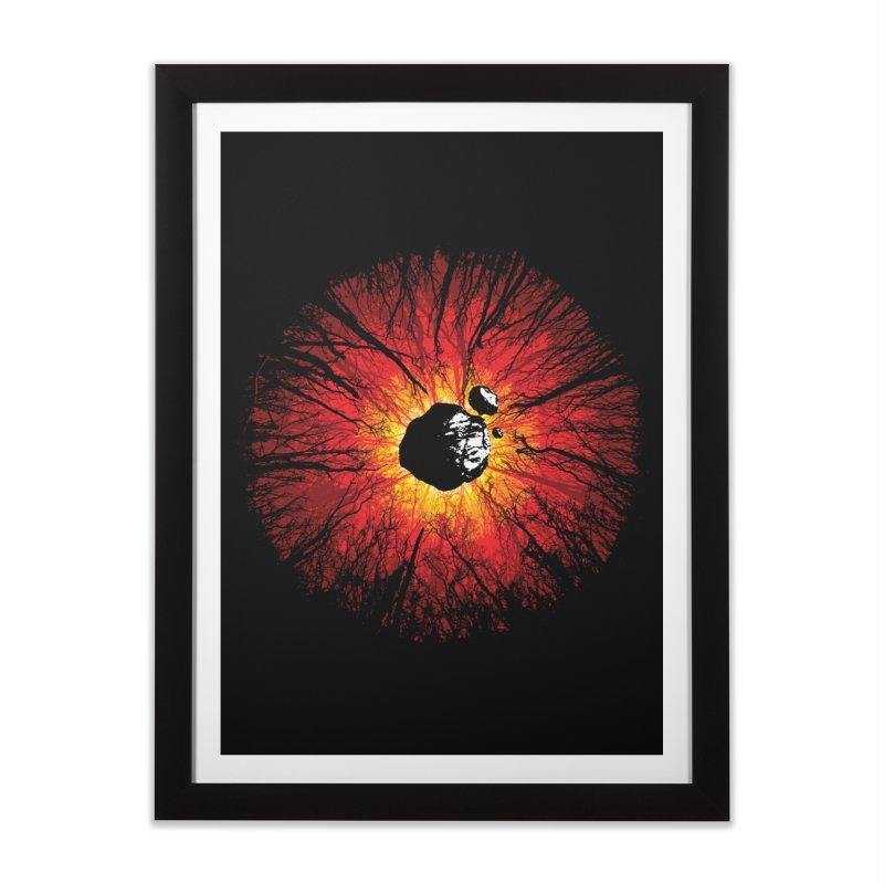Eye Of Destruction Home Framed Fine Art Print by Daletheskater