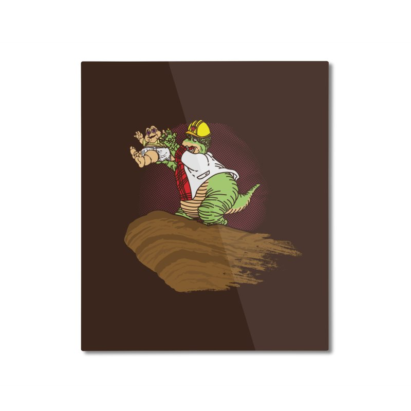 Baby King Home Mounted Aluminum Print by Daletheskater