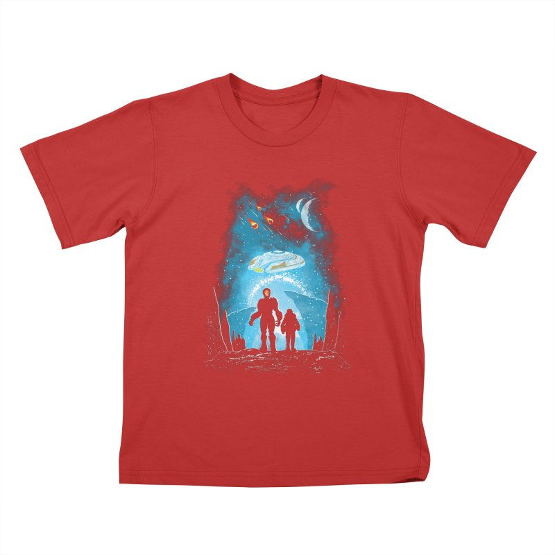 Unknown Destination Kids T-Shirt by Daletheskater