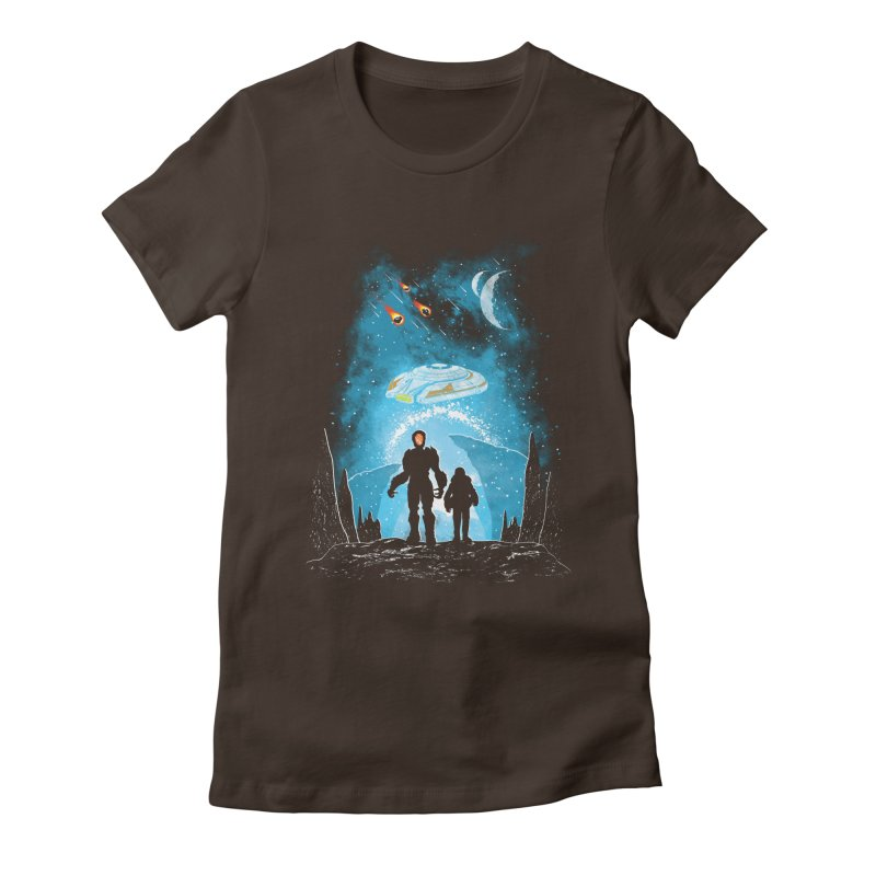 Unknown Destination Women's Fitted T-Shirt by Daletheskater