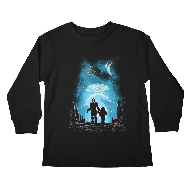 Unknown Destination Kids Longsleeve T-Shirt by Daletheskater
