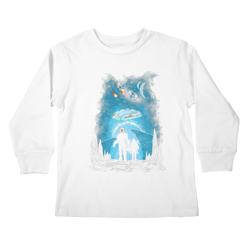 Unknown Destination Kids Longsleeve T-Shirt by Daletheskater