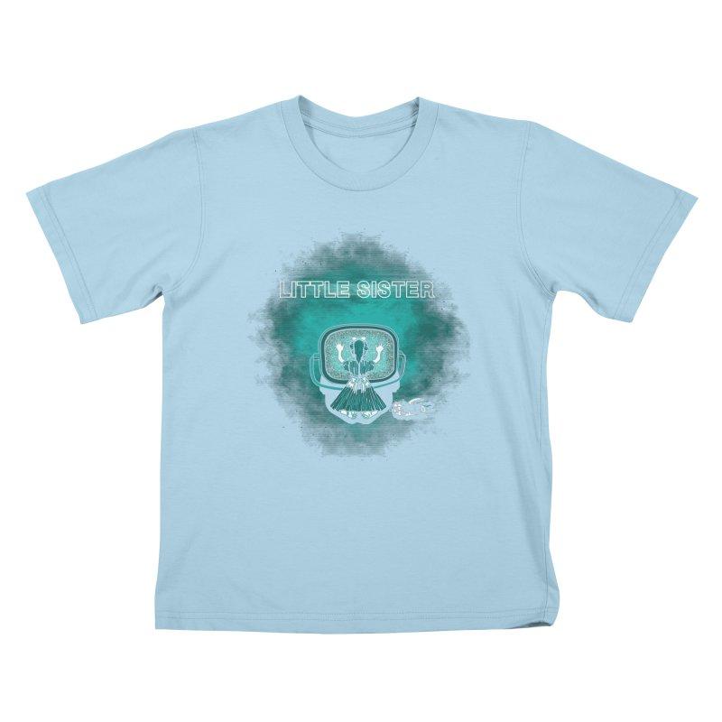 Little Sister Kids T-Shirt by Daletheskater