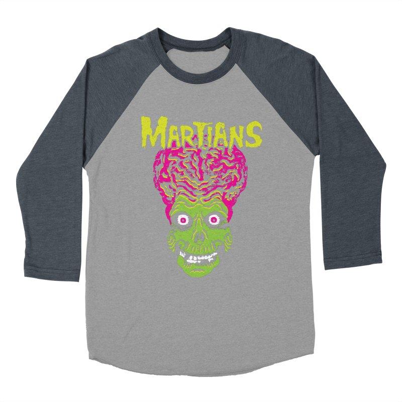 Martians Women's Baseball Triblend Longsleeve T-Shirt by Daletheskater