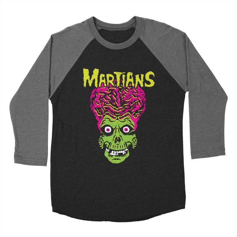 Martians Men's Baseball Triblend Longsleeve T-Shirt by Daletheskater