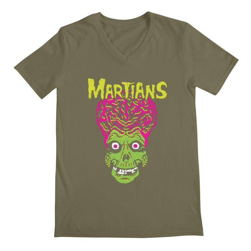 Martians Men's V-Neck by Daletheskater
