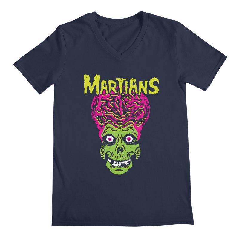 Martians Men's Regular V-Neck by Daletheskater