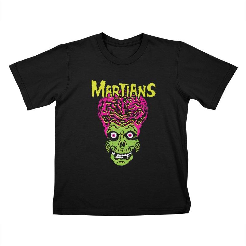 Martians Kids T-Shirt by Daletheskater