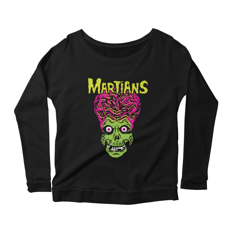 Martians Women's Scoop Neck Longsleeve T-Shirt by Daletheskater