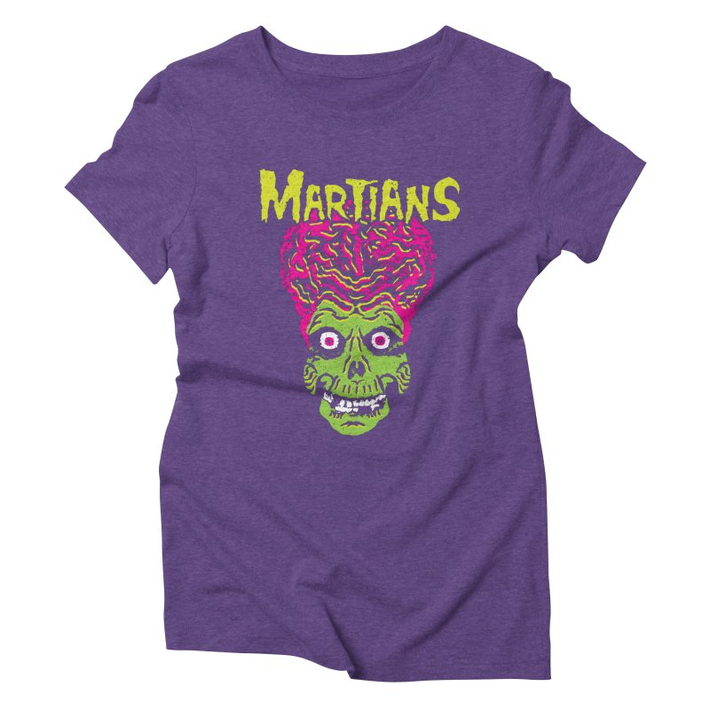 Martians Women's Triblend T-Shirt by Daletheskater