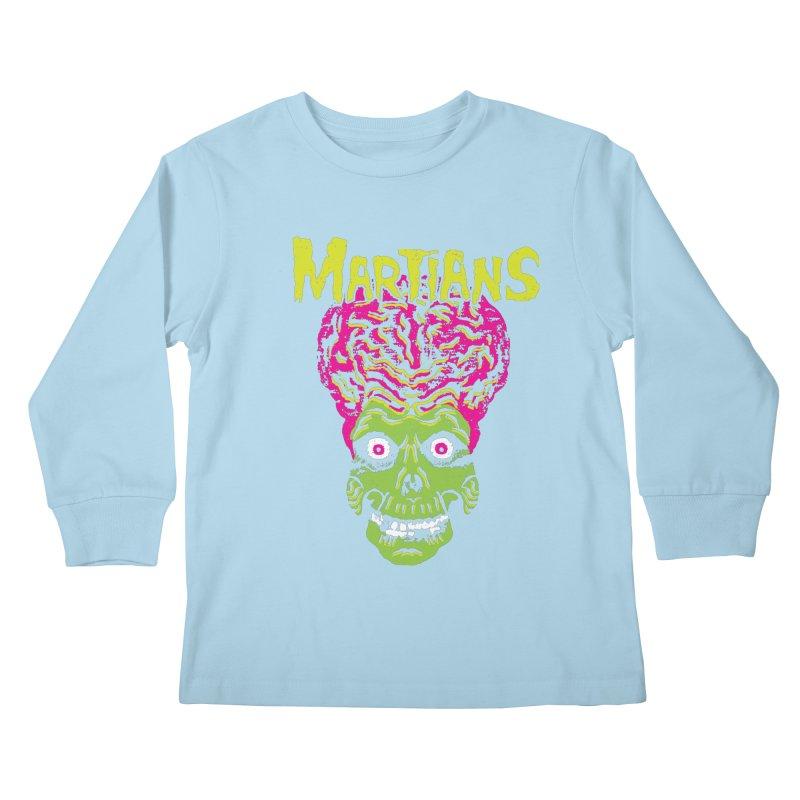 Martians Kids Longsleeve T-Shirt by Daletheskater