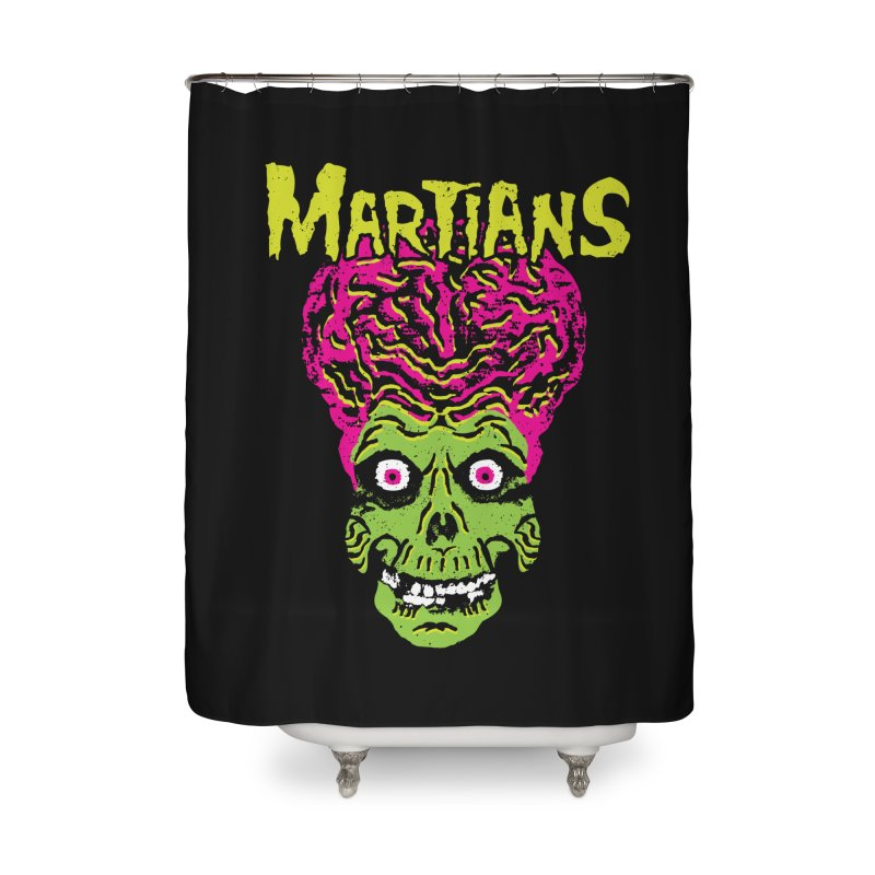 Martians Home Shower Curtain by Daletheskater