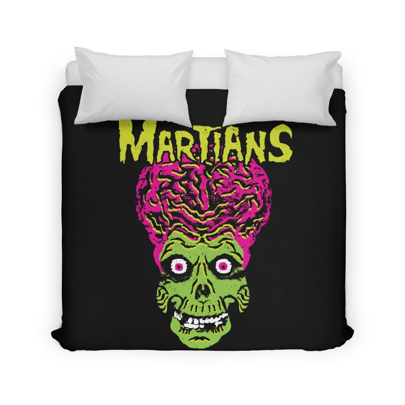 Martians Home Duvet by Daletheskater