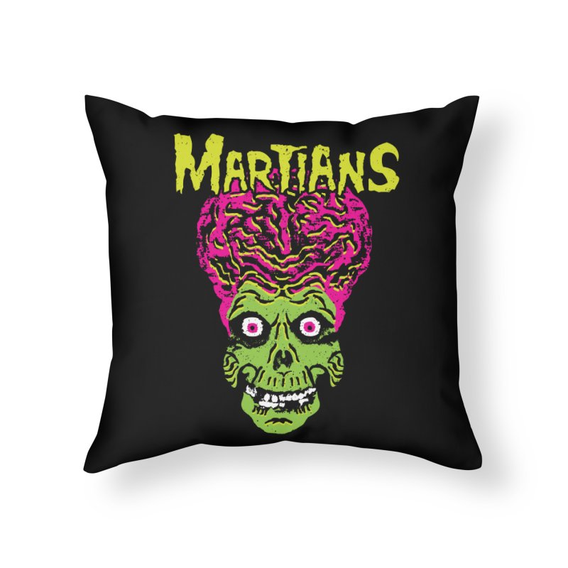 Martians Home Throw Pillow by Daletheskater