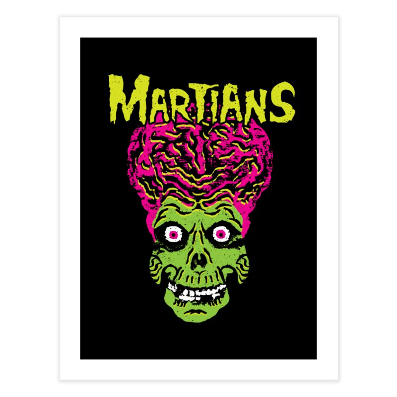Martians Home Fine Art Print by Daletheskater