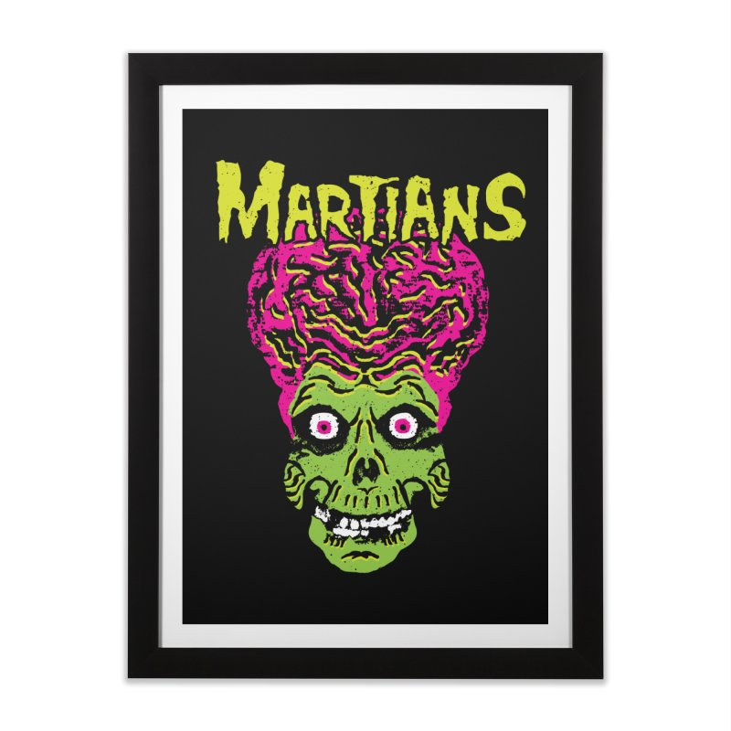 Martians Home Framed Fine Art Print by Daletheskater