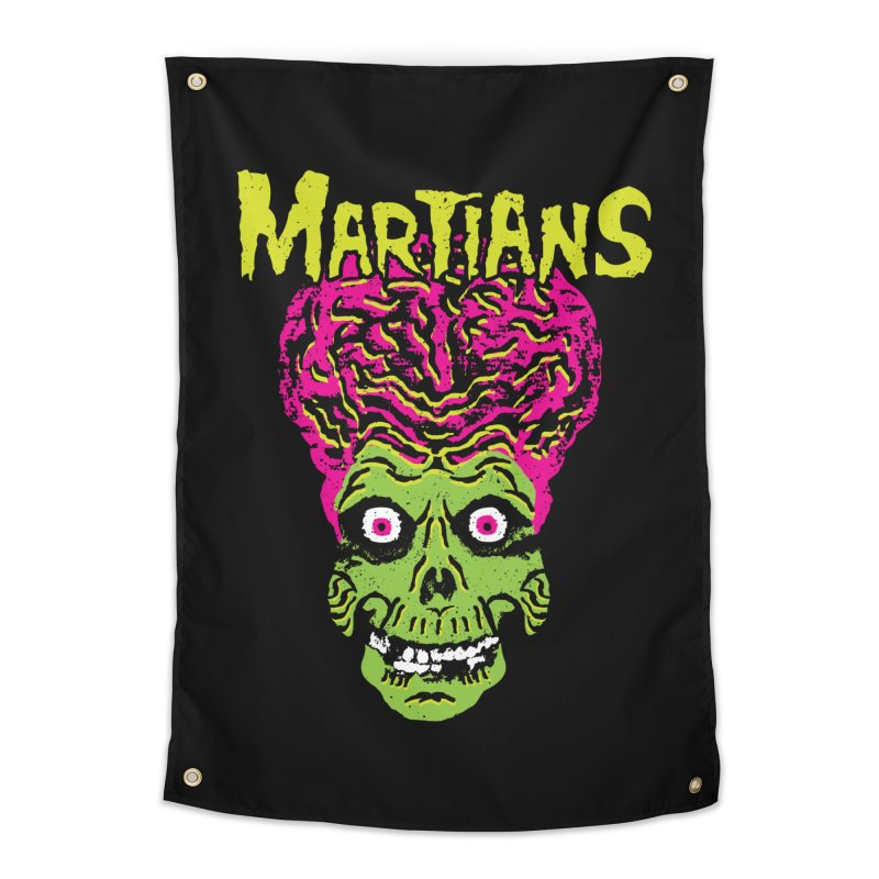 Martians Home Tapestry by Daletheskater