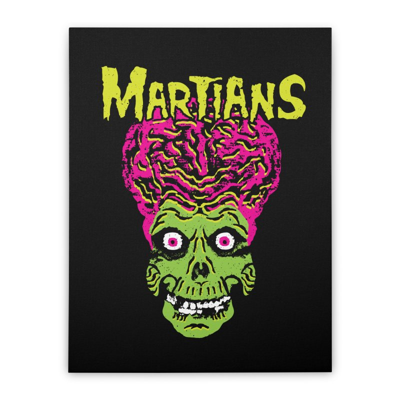 Martians Home Stretched Canvas by Daletheskater