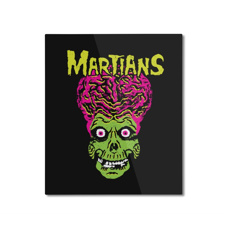 Martians Home Mounted Aluminum Print by Daletheskater