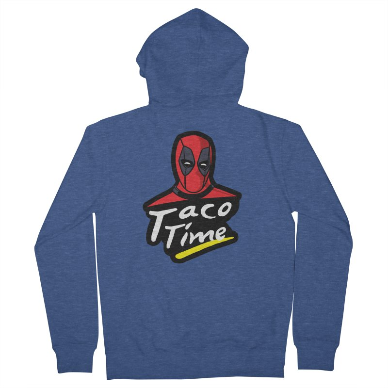 Taco Time Men's Zip-Up Hoody by Daletheskater