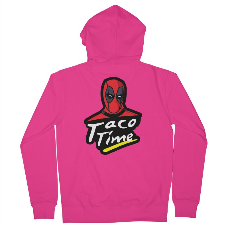Taco Time Men's French Terry Zip-Up Hoody by Daletheskater