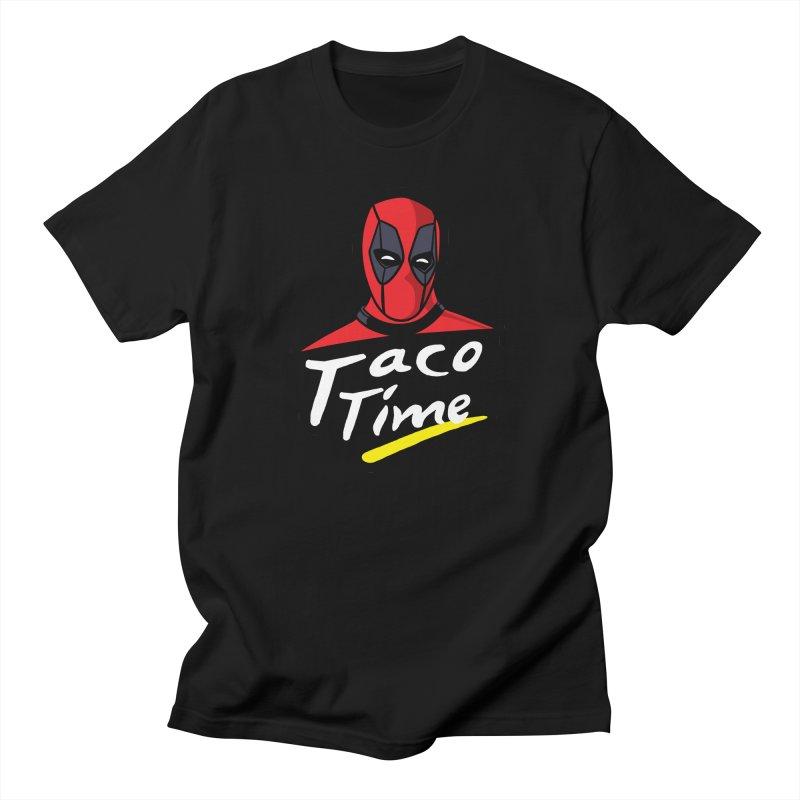 Taco Time Men's Regular T-Shirt by Daletheskater