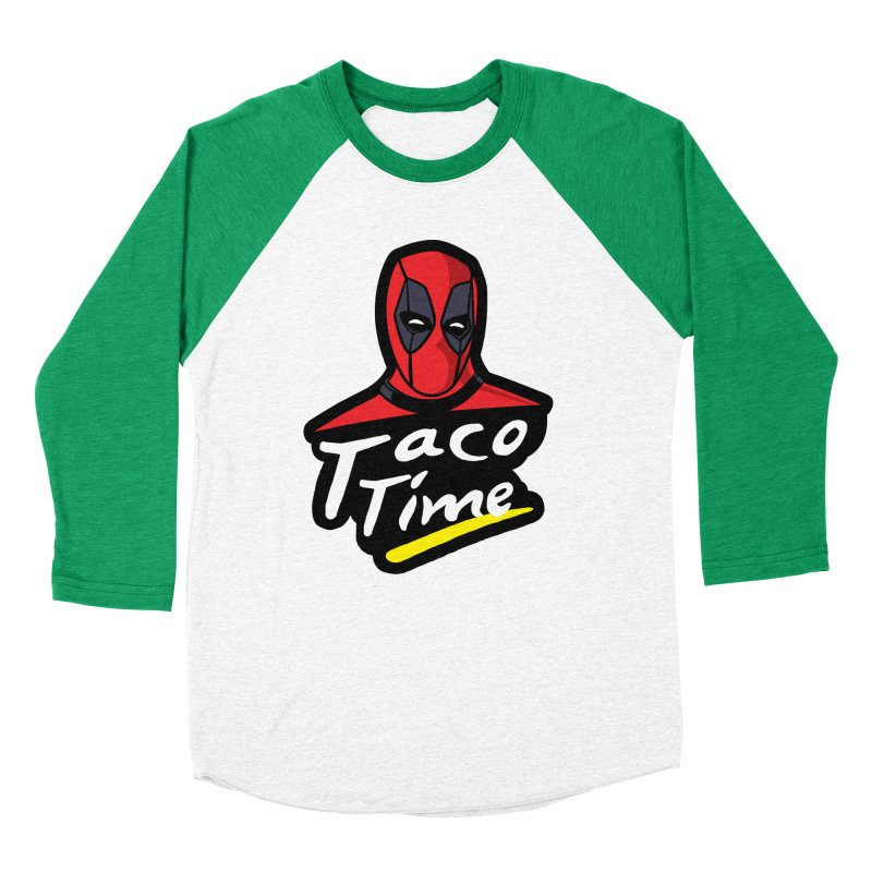 Taco Time Women's Baseball Triblend Longsleeve T-Shirt by Daletheskater