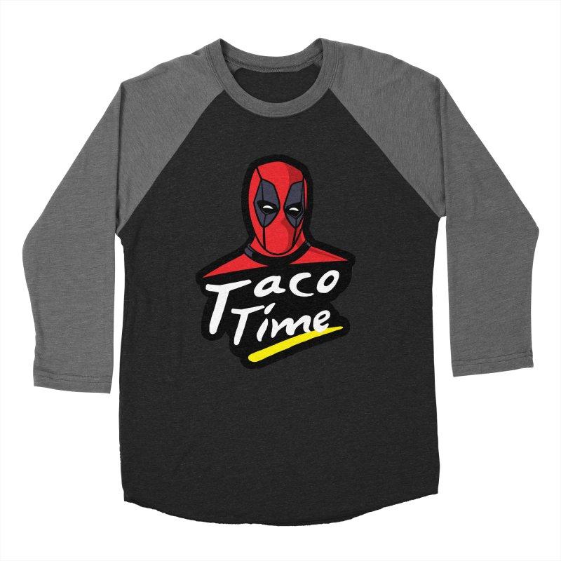 Taco Time Men's Baseball Triblend T-Shirt by Daletheskater