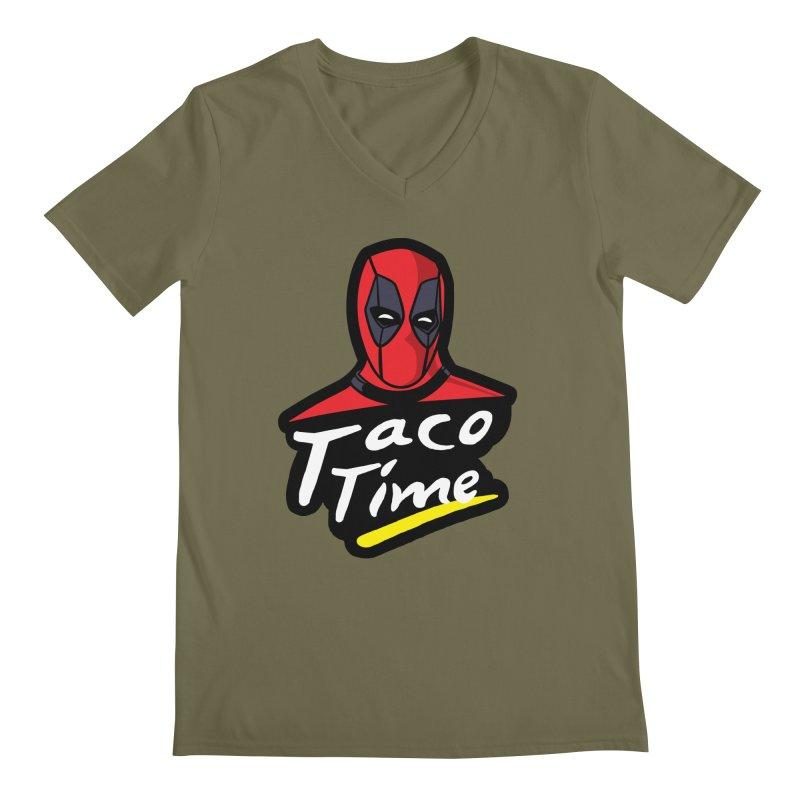 Taco Time Men's Regular V-Neck by Daletheskater