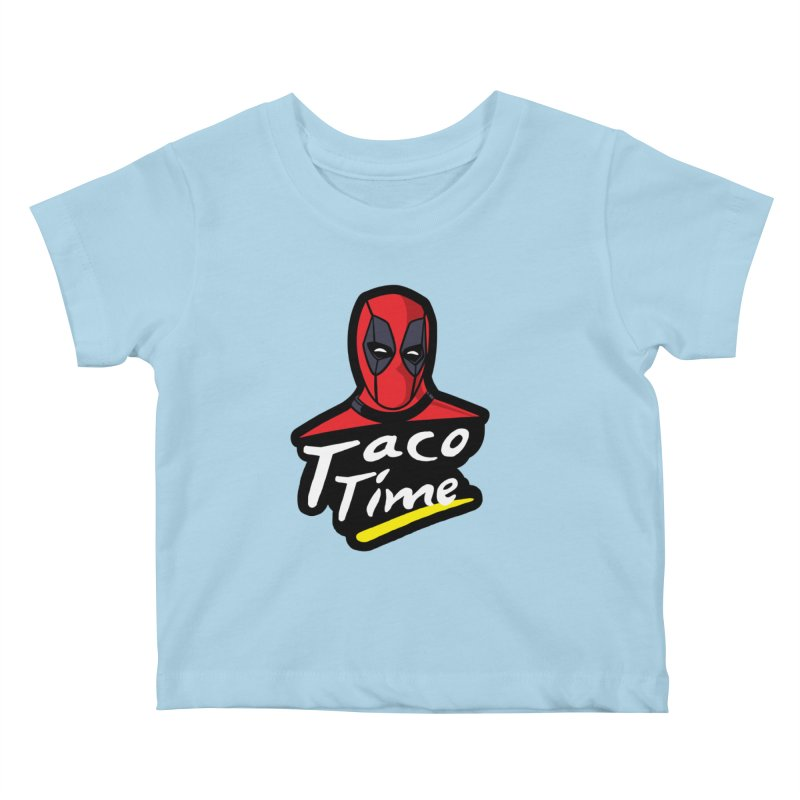 Taco Time Kids Baby T-Shirt by Daletheskater