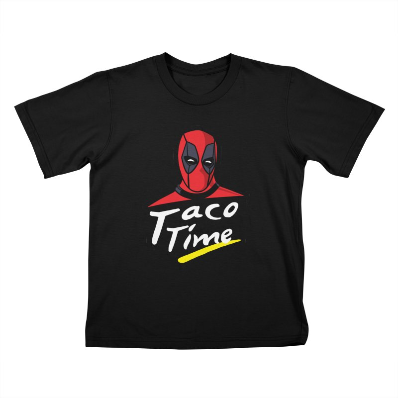 Taco Time Kids T-Shirt by Daletheskater