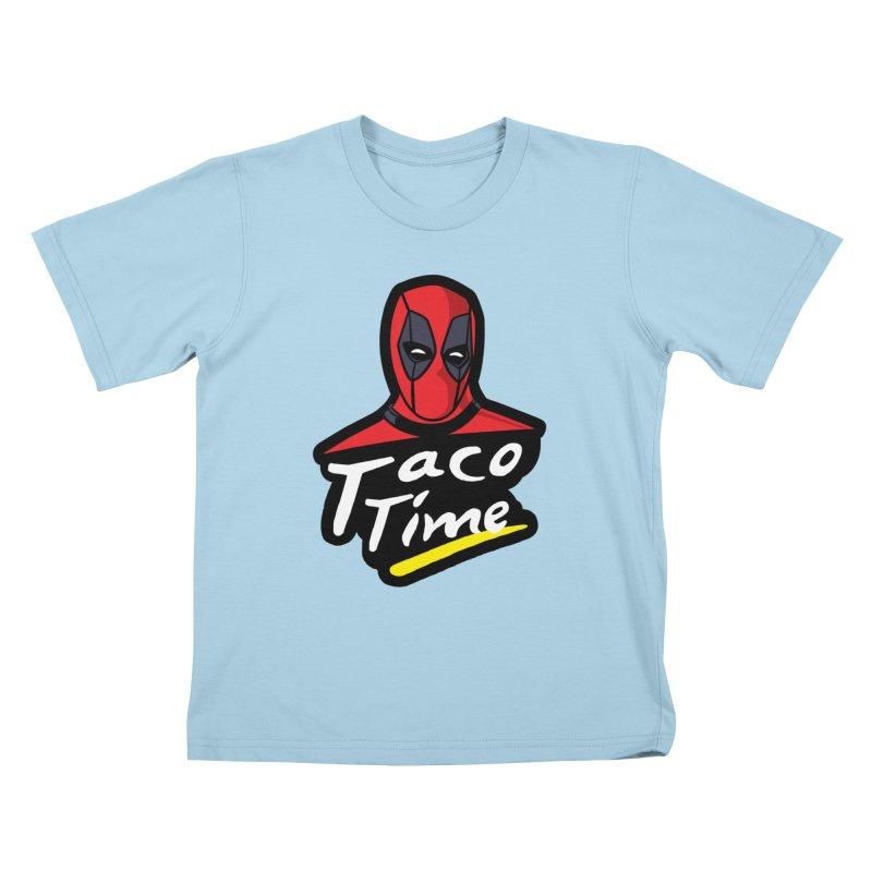 Taco Time Kids T-Shirt by Daletheskater